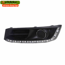 eeMrke Car LED DRL For Honda Odyssey JDM 2014 2015 2016 High Power Xenon White Fog Cover Daytime Running Lights Kits