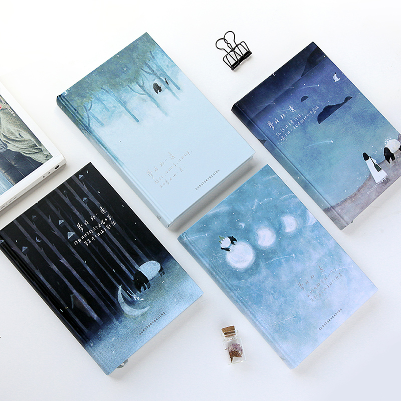 Our Story Begins The Other Side Of The Dream Series Notebook A5 Color Page Hardcover Notebook Notepad Diary 1PCS