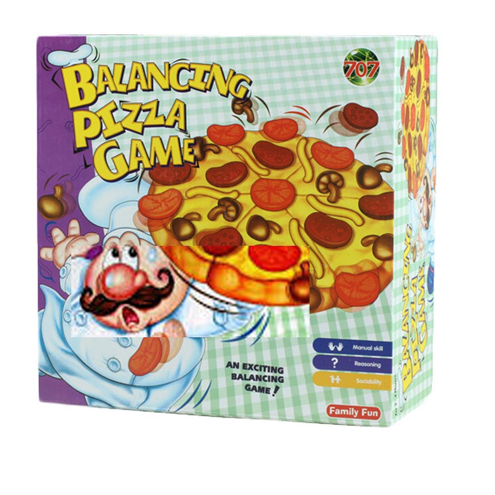 Pizza balance game pile up balancing desktop toy pretend play food small family plastic building blocks toys for Children pizza balance game pile up balancing desktop toy pretend play food small family plastic building blocks toys for children