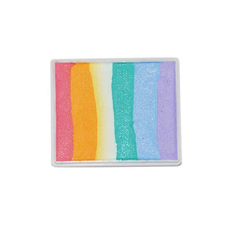 4 เซ็ต/ล็อตสายรุ้งสีเรืองแสงสีภาพวาดปกติ Neon UV Body สีเรืองแสงแต่งหน้าฮาโลวีน Pigment