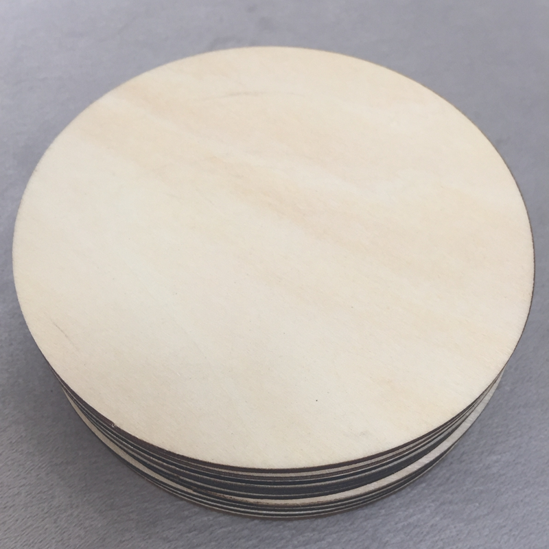 20pcs Wooden Plain Round Circles Craft Shapes 3mm Plywood