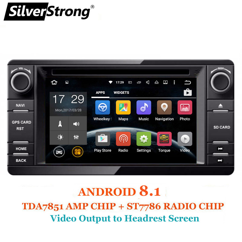 SilverStrong Android8.1 2Din Radio Voiture DVD GPS Pour MITSUBISHI OUTLANDER 2017 2014 2015 2016 GPS pour PAJERO ASX 4g radio BT 4.0