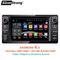 SilverStrong Android8.1 2Din Radio Car DVD GPS For MITSUBISHI OUTLANDER 2017 2014 2015 2016 GPS for PAJERO ASX 4G Radio BT 4.0