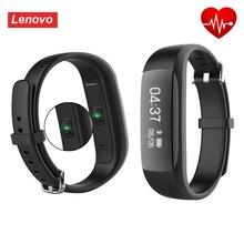 Оригинал lenovo hw01 bluetooth4.2 смарт браслет сердечного ритма монитор шагомер фитнес-браслет спорт smartband для android ios