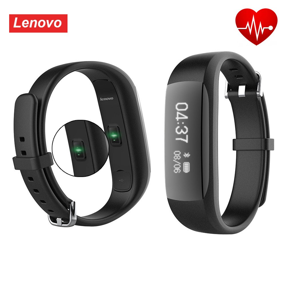 imágenes para Original de Lenovo HW01 Bluetooth4.2 Pulsera Inteligente Podómetro Pulsera de Fitness Deportes de Ritmo Cardíaco Moniter Smartband Para Android IOS