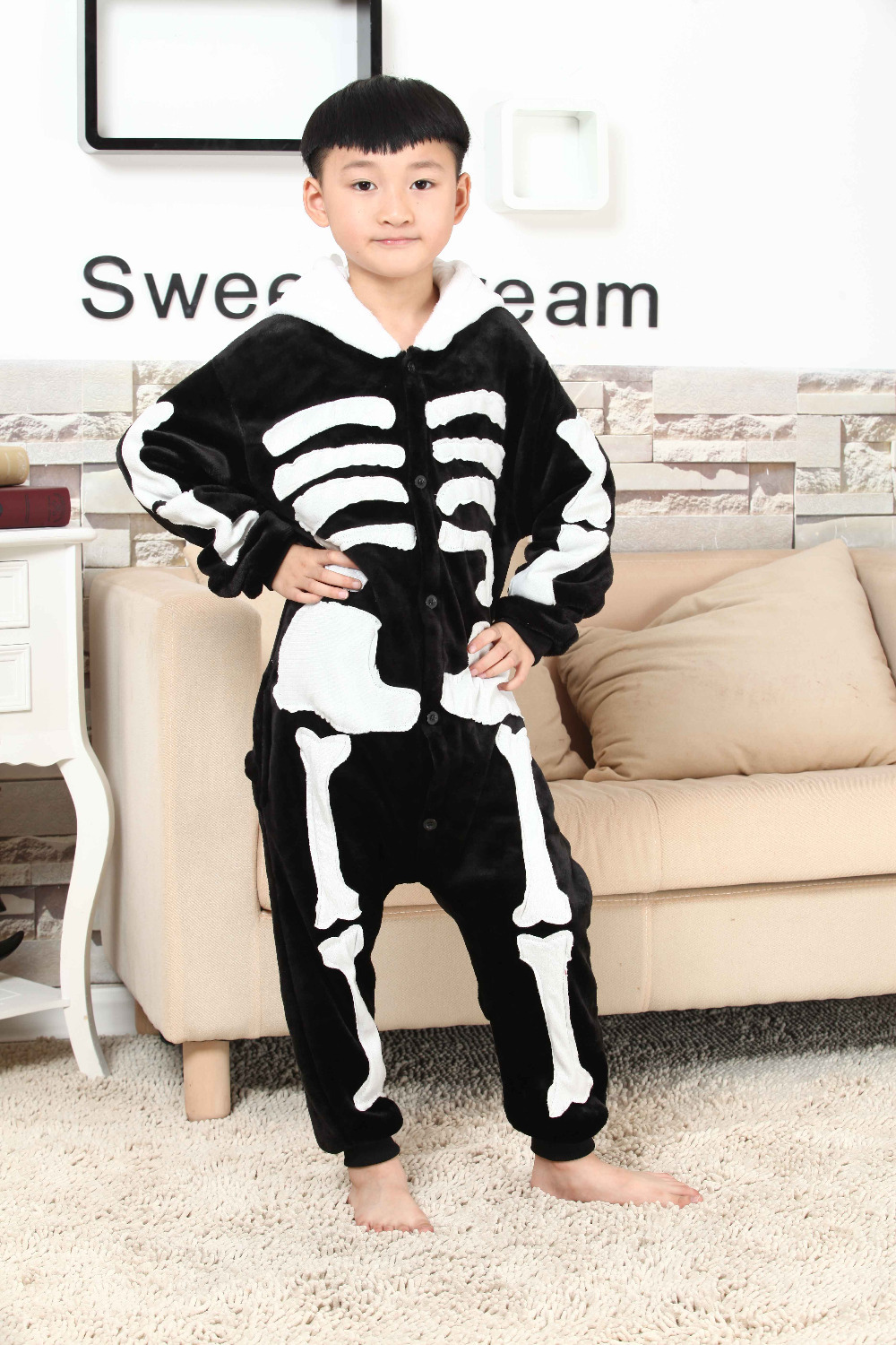 Online Buy Wholesale skeleton pajamas kids from China skeleton ...