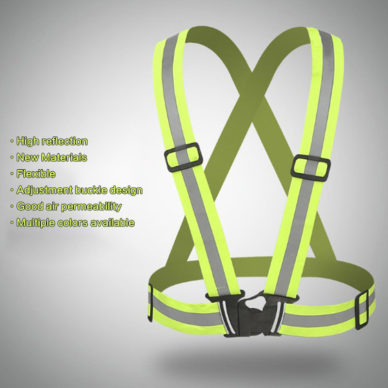 8 Colors High Visibility Reflective Vest Outdoor Safety Vest Cycling Night Running Sports Workwear Unisex Flexible Safety Cloth