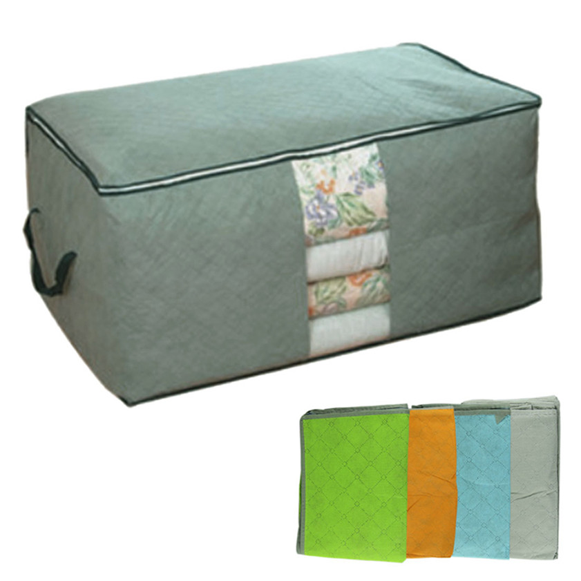 High Quality Hot Sale Storage Box Portable Organizer Non Woven Clothing Pouch Holder Blanket Underbed Storage Bag Box 12.22