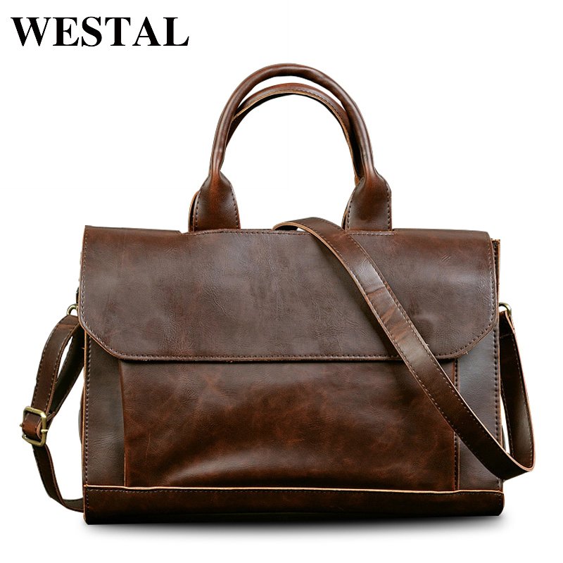 WESTAL Business Briefcase Laptop Bag Men Bag PU Leather Shoulder Crossbody Bags Men Messenger Bags Travel PU Leather Handbags бронхо ваксом 7мг 30 капсулы для взрослых