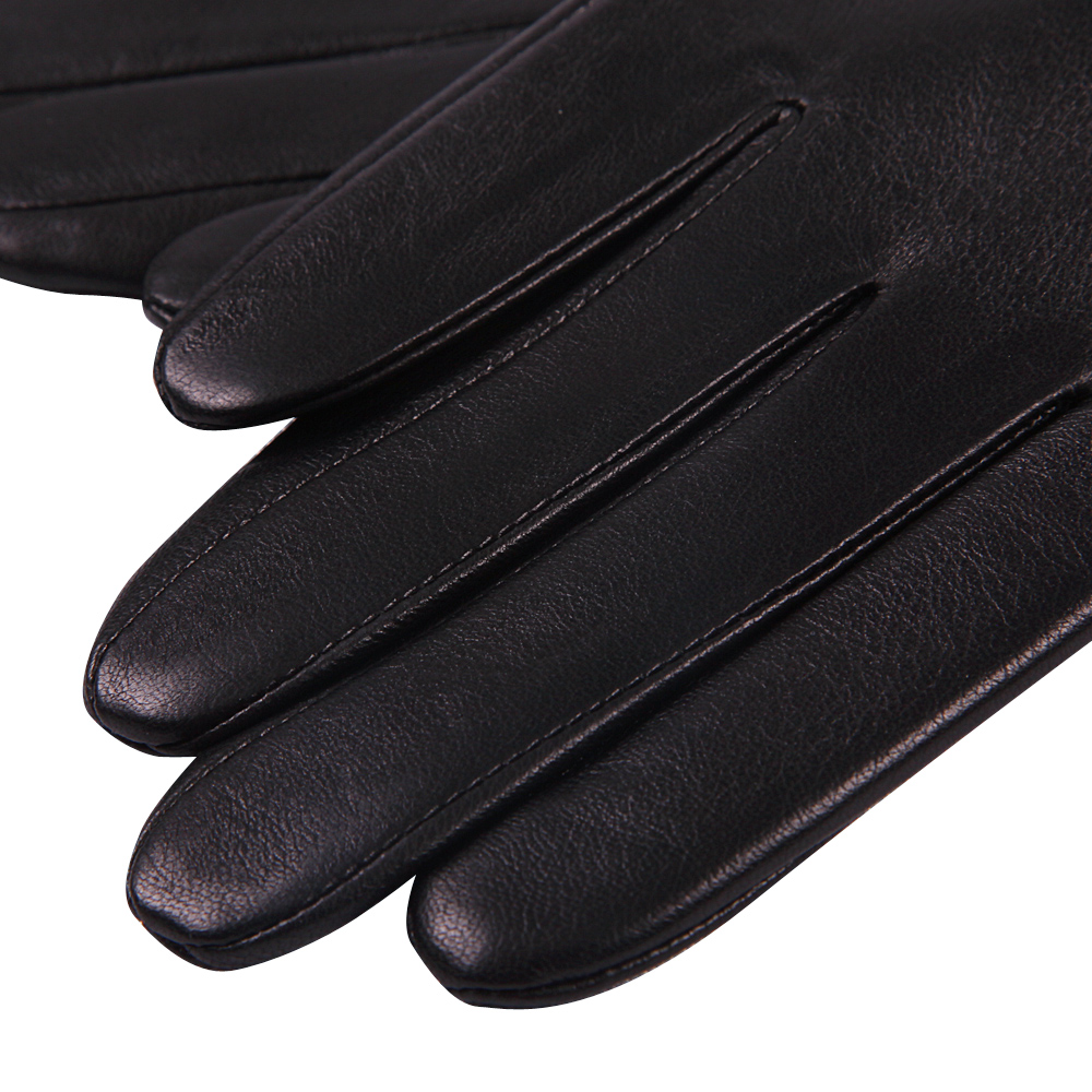 Genuine Leather Gloves Male Autumn Winter Plus Velevet Fashion Driving Thicken Keep Warm Touch Screen Sheepskin Gloves M18010NC