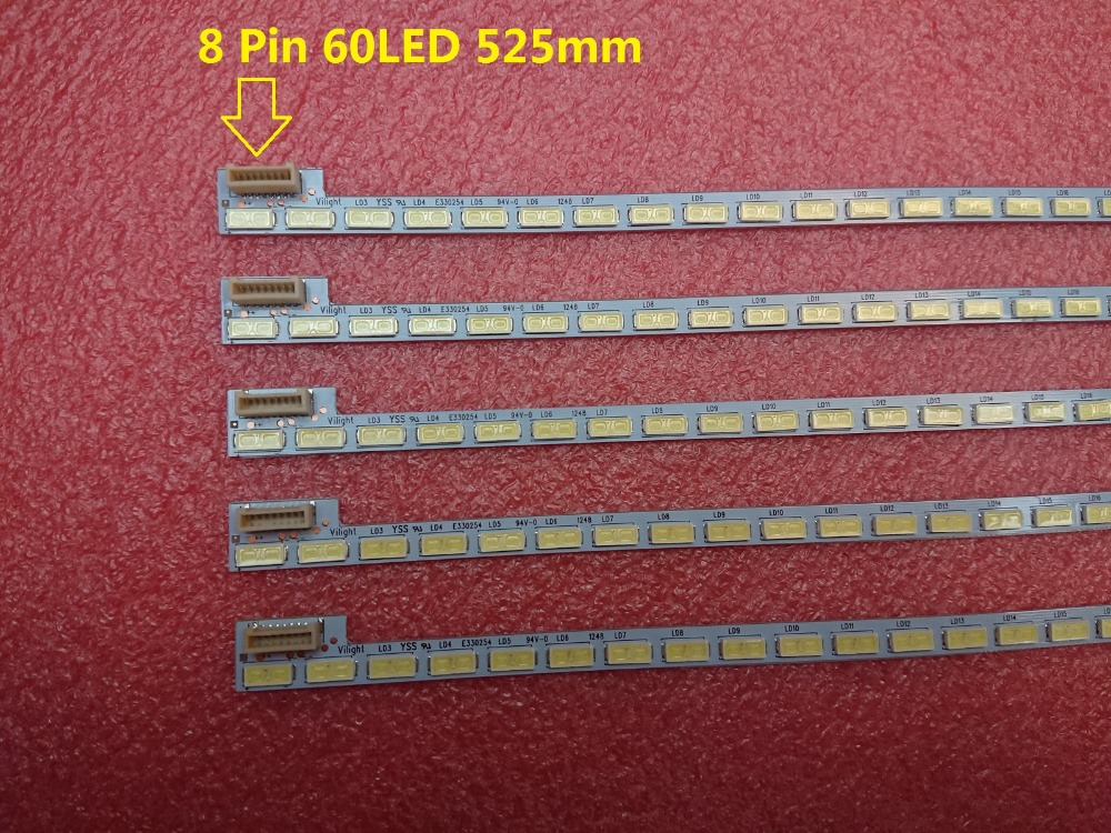 New 5 PCS lot 60LED 525mm LED strip bar for LG 42LS5600 42LS560T 42LS570S 42LS575S T420HVN01
