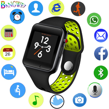 BANGWEI 2018 new mens smart sports watch pedometer LED digital SIM card camera music player for Android + Box