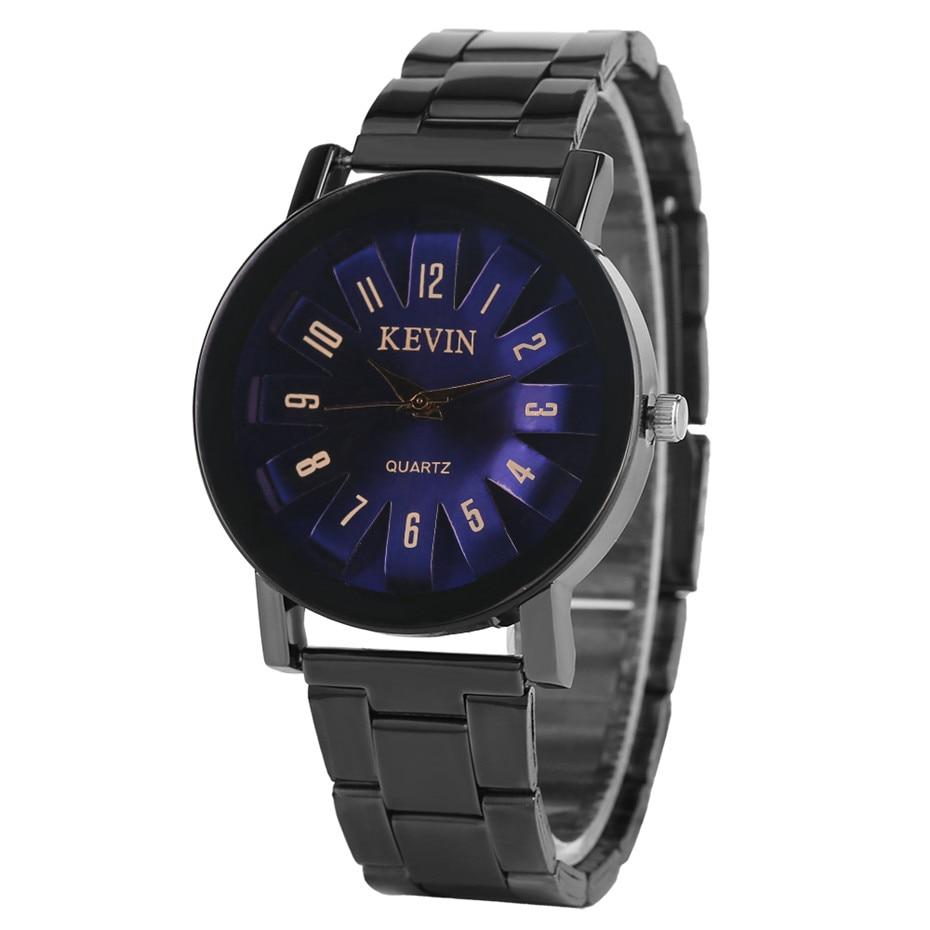 KEVIN Watch Men Blue/Purple Red Color Unique Roman Numerals Casual Man Wristwatches Creative Metal Strap Quartz Clock Gifts 2018 цена 2017