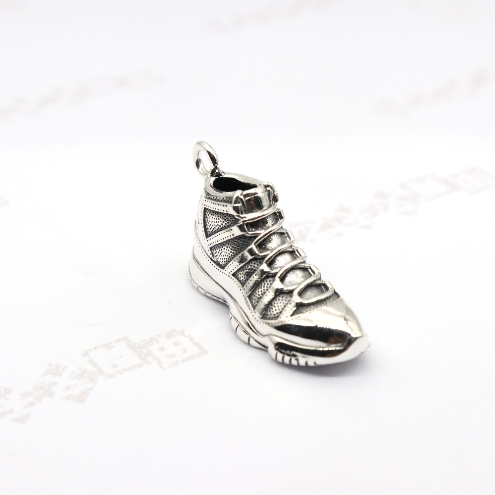 Thai silver AJ series sneakers rock hip hop style fashion accessory sweater chain necklace pendant couples handbags accessories