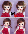 "Hot Sale 5-6"" 14cm BJD Farbric Fur Wig Brown For 1/8 BJD AE PukiFee lati"