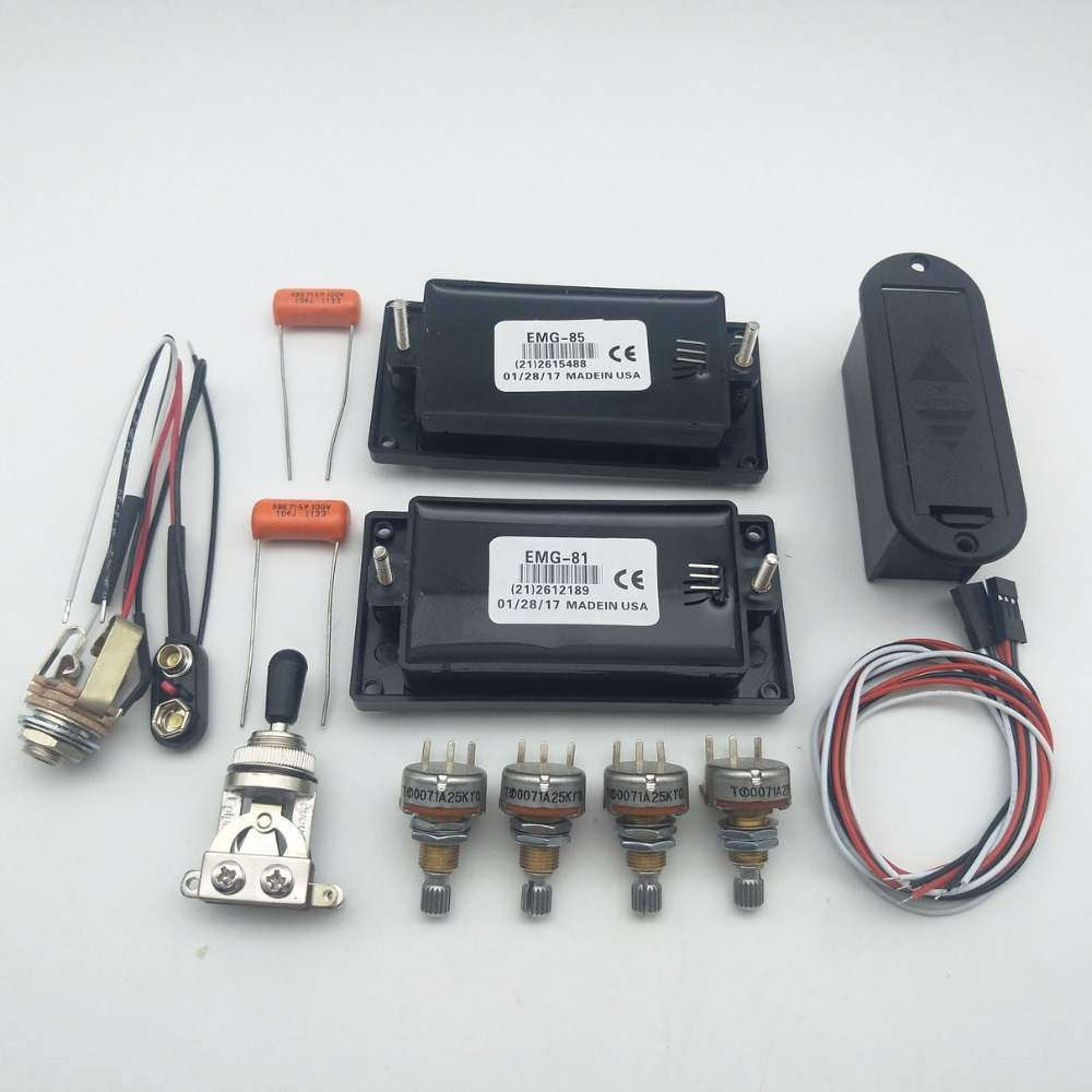 aliexpress com : buy emg 81/ 85 active pickup electric guitar pickups with  25k potentiometer parts black 1 set from reliable guitar parts &  accessories