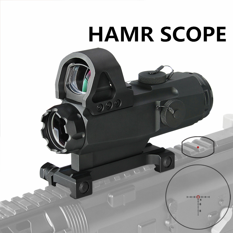 PPT HAMR Scope 4x24mm Rifle Scope Magnifier Riflescope Night Hunting Scopes Sniper Rifle Scope Air Gun Optic Scope Gs1-0403