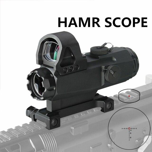 PPT HAMR Scope 4x24mm Rifle Scope Magnifier Riflescope Night Hunting Scopes Sniper Rifle Scope Air Gun Optic Scope gs1-0403