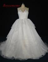 Royeememo 2017 New Design Real Photo High Quality Organza Wedding Dress Hot Sale Beach Style Bridal