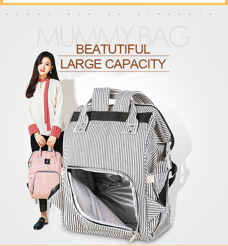 Baby Diaper Bag Mummy Maternity Travel Waterproof Bag Nappy Changing Backpack Organizer Nursing Wet Bag Large Capacity Baby Bag (18)