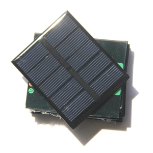 "Image 4 - שמש נייד Mini 0.5 W 2.5 V פנל סולארי BUHESHUI אפוקסי פנל מטען סולארי Polycrystalline פנל צעצוע DIY 58*70*3 מ""מ 2 יח\חבילה"
