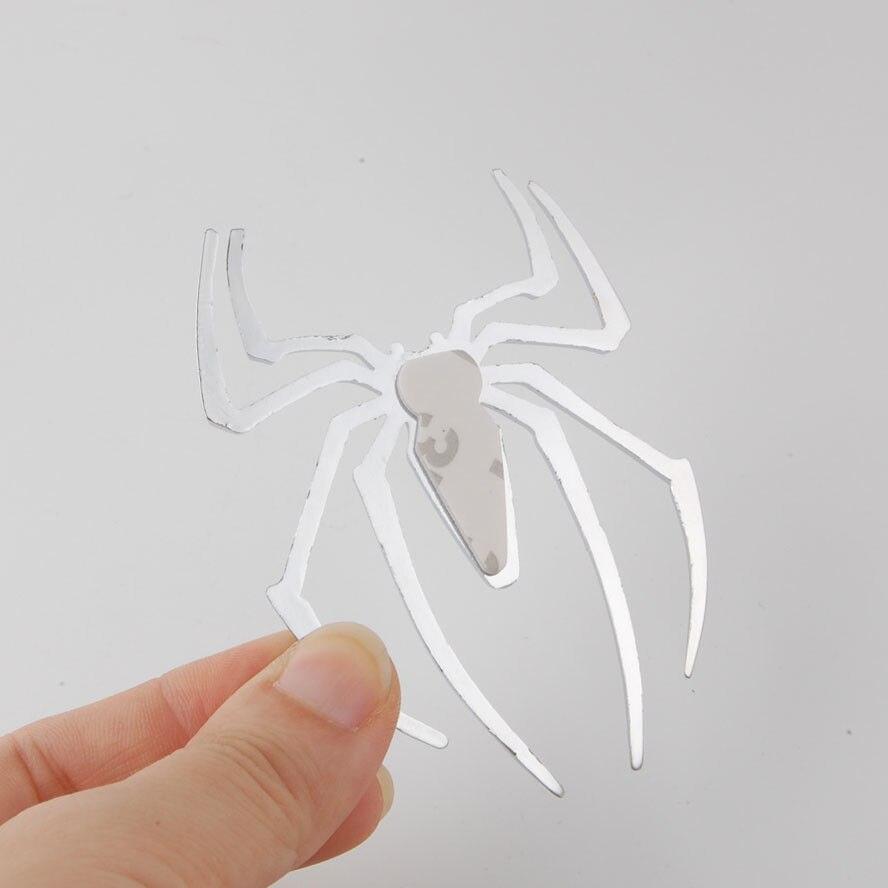 3D Universal Car Truck Spider Chrome Badge Sticker Logo Emblem Decal Spider