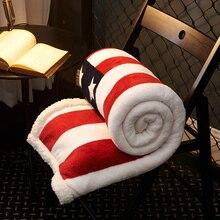 Полиэстер фланель одеяла с изображением флага на кровати Multi-Размер украшения дома Флисовое одеяло для дивана теплые и мягкие покрывало/