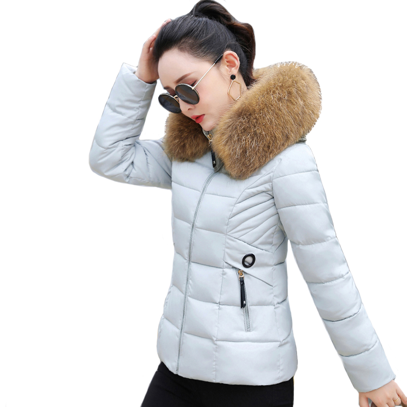 2019 New Arrival Womens Winter Jackets Hooded Short Slim Winter Jacket Women Outwear Padded Casaco Feminino Inverno Coat   Parka
