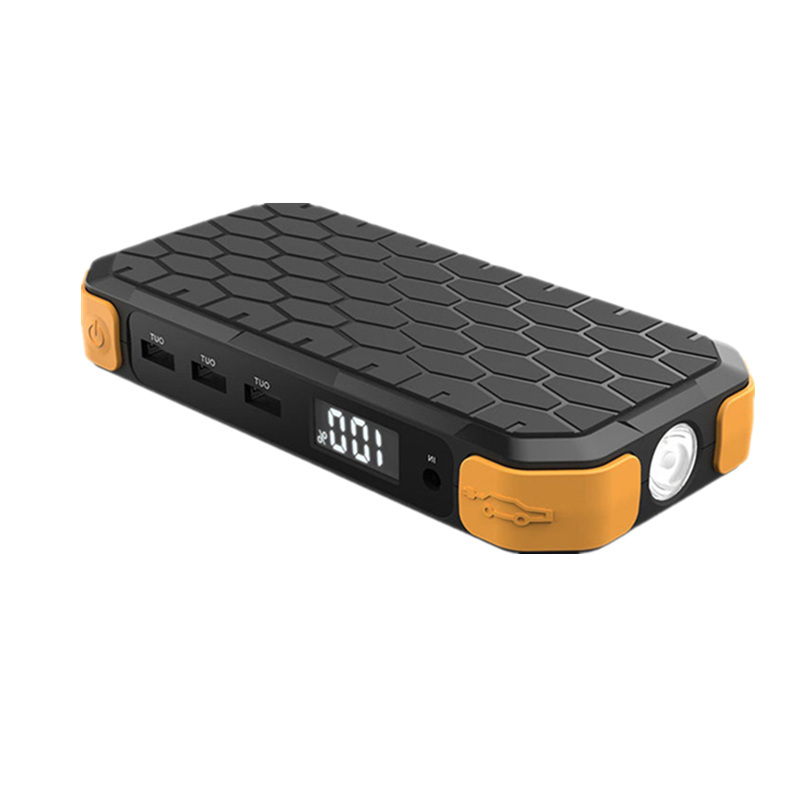 HCOOL Car Jump Starter 18000mAh Black Honeycomb Portable Digital Emergency Starting Power Bank Car Charger Smart Charging Ports : 91lifestyle