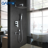 GAPPO Wall Bathroom Shower Faucet Set Bronze Rainfall Shower Faucet Chrome Bathtub Faucet Tap Waterfall Head