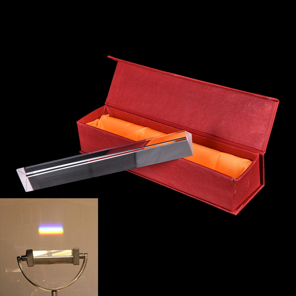 20CM Mini prism optical glass triple triangular prism refractor physics experiment office school stationery supplies new arrive physical science optical experiments triangular prism convex lens physics optical instruments durable quality