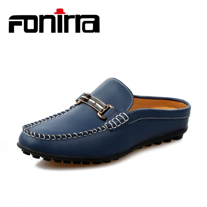 FONIRRA Summer Genuine Leather Casual Shoes Men Loafers New Fashion Slip On Sewing Shoes Men Metal Decoration Driving Shoes 888 2015 new spring and summer british top fashion leisure driving full grain embossed genuine leather slip on men s loafers shoes
