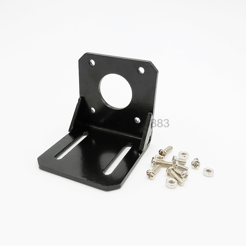 nema 17 stepper motor bracket 42 Stepper motor accessories bracket L Mounting Bracket Mount fixed support Support Shelf aluminium alloy mounting bracket for nema 17 stepper motor geared stepper motor