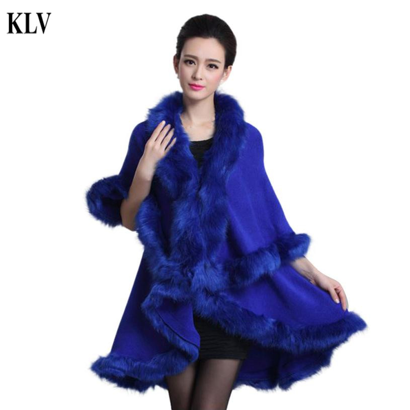 4d2513cdf4b Hot Stylish Fashion Fur Overcoat For Women Fur Faux Poncho Cape Stole Wrap  Hoody Women s Fur Coat Manteau Femme 8 Colors No10-in Fur   Faux Fur from  Women s ...