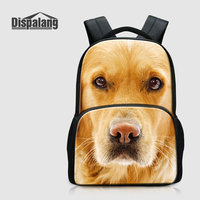 Dispalang Personalized Bookbags For Girls Boys 17 Inch Large School Bags For Elementary Students Dog Mochila