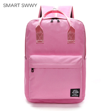 Womens Laptop Backpacks School Bags For Teenage Girls Satchel Ladies Waterproof Rucksack Student Bag Pink Travel Backpack 2019
