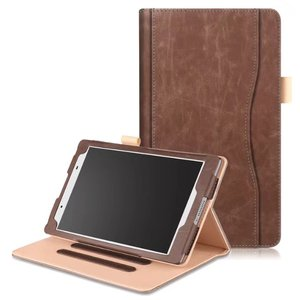 Luxury Business Pu Leather Cover Case for Lenovo Tab 4 8inch tablet TB-8504 TB-8504F TB-8504N 2017 with Hand Strap Card Slots