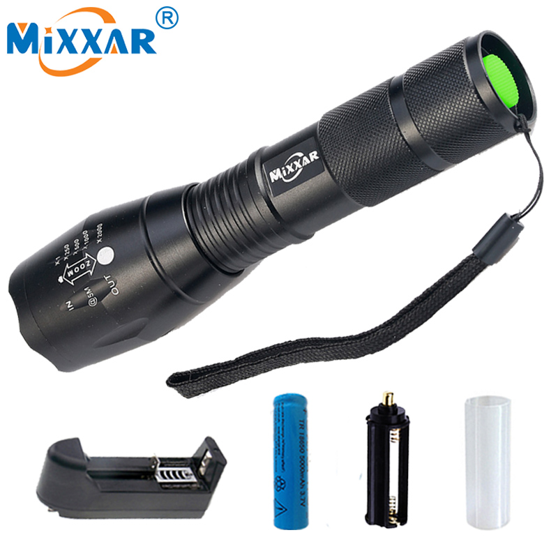 SZK20 LED Flashlight 18650 zoom torch waterproof flashlights XM-L T6 9000LM 5 mode led Zoomable light For 3x AAA or 3.7v Battery 2018 led flashlight 18650 torch waterproof rechargeable xm l t6 4000lm 5 mode led zoomable light for 3x aaa or 3 7v battery
