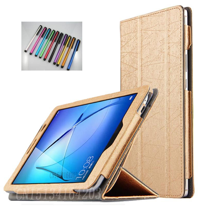 2017 New Folio stand PU leather cover case for Huawei MediaPad T3 8.0 KOB-L09 for Honor 8.0 Tablet Magnetic fold case+Stylus mediapad m3 lite 8 0 skin ultra slim cartoon stand pu leather case cover for huawei mediapad m3 lite 8 0 cpn w09 cpn al00 8
