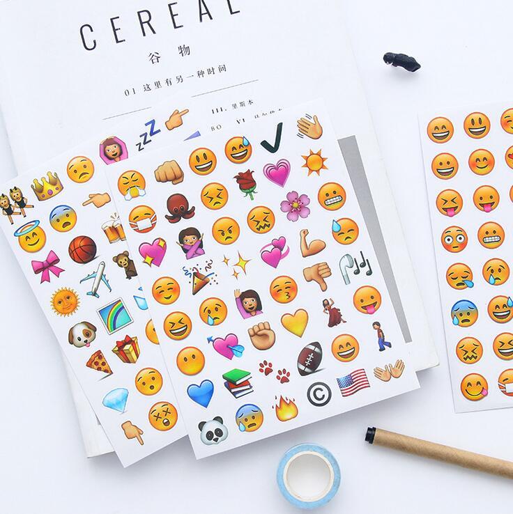4 pcs/pack Creative Interesting Emoji Expression Apple Stickers Diary Sticker Scrapbook Decoration PVC Stationery Stickers