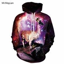 2018 New Design Galaxy Space Sheep King Print 3D Pullovers Hoodies Men Women Hooded Sweatshirts Casual Steetwear Outwear Jacket