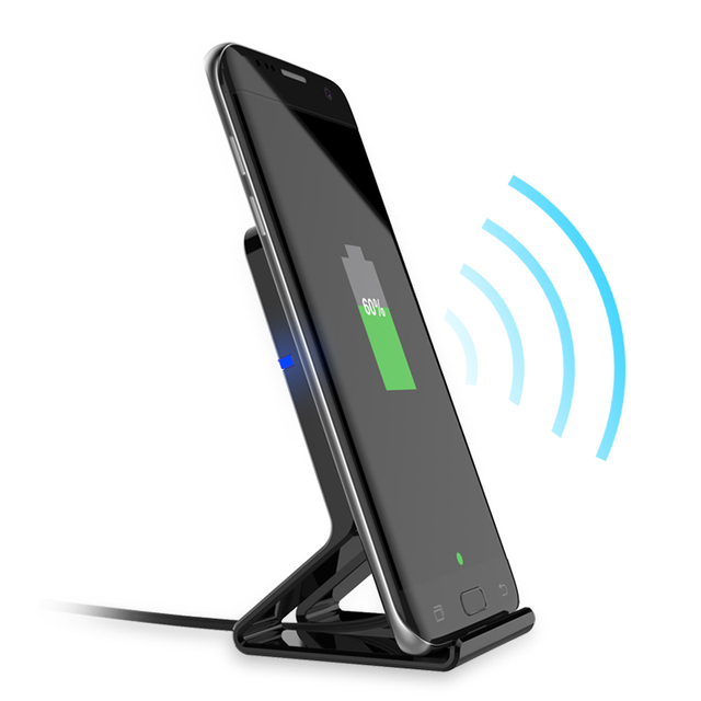QI Standard Wireless Charger For Iphone 8 Iphone X Samsung S8 S7 Edge S6 Edge Note 8 Stand Style 5V 1A Output Wireless Charger