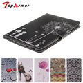 TopArmor Romantic dandelion lovers tablet leather case for Samsung Galaxy Tab S2 9.7 T815 with wallet pouch and stand cover