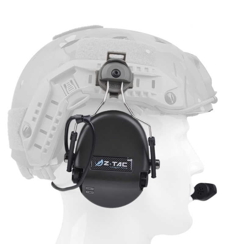 Z טקטי Airsoft אנטי רעש Sordin אוזניות Peltor תעופה אוזניות עם מהיר קסדת רכבת מתאם סט Softair אוזניות FG