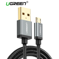Ugreen 5V2A Micro USB Cable Metal Nylon Braided Wire USB Charger Sync Data Cable For Samsung