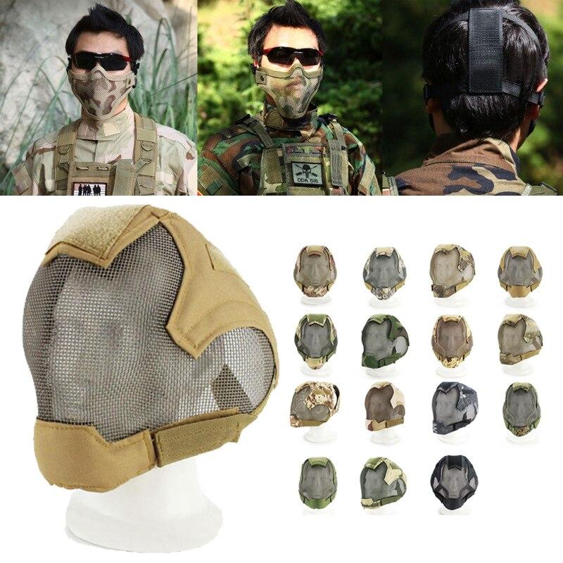 Tactique Militaire Masque Complet Protection Paintball Vélo Équipements