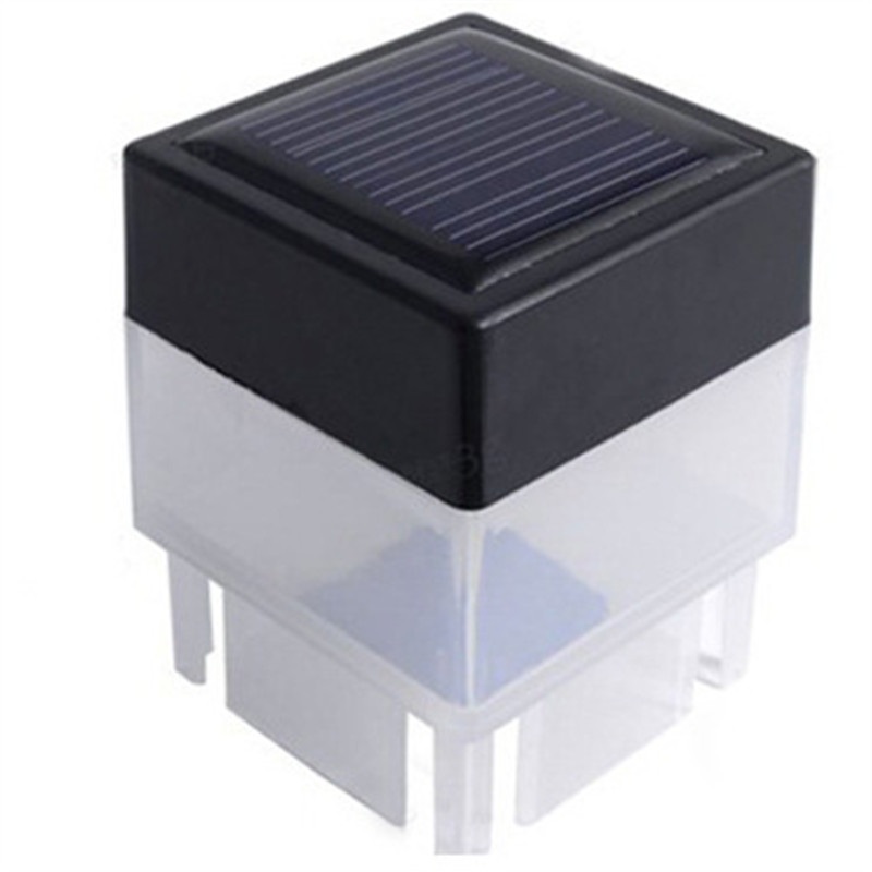 LED Solar Panel Column Fence Light Motion Sensor Outdoor Garden Landscape Pillar Stair Lamp Waterproof Energy Saving Lighting ...
