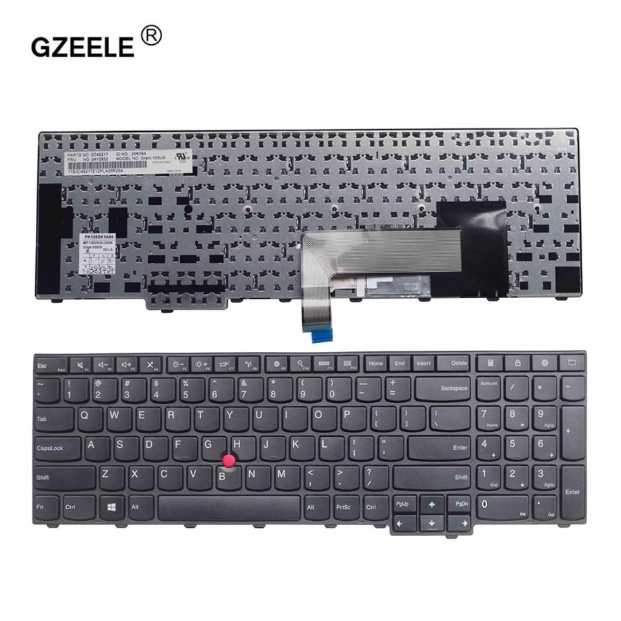 GZEELE New US keyboard For Thinkpad Edge E531 E540 Laptop FRU 04Y2348 04Y2426 04Y2689 04Y2652 0C45217 0C44991 laptop keyboard new notebook laptop keyboard for lenovo e531 e540 us keyboard 04y2652 0c45217 04y2689 us layout