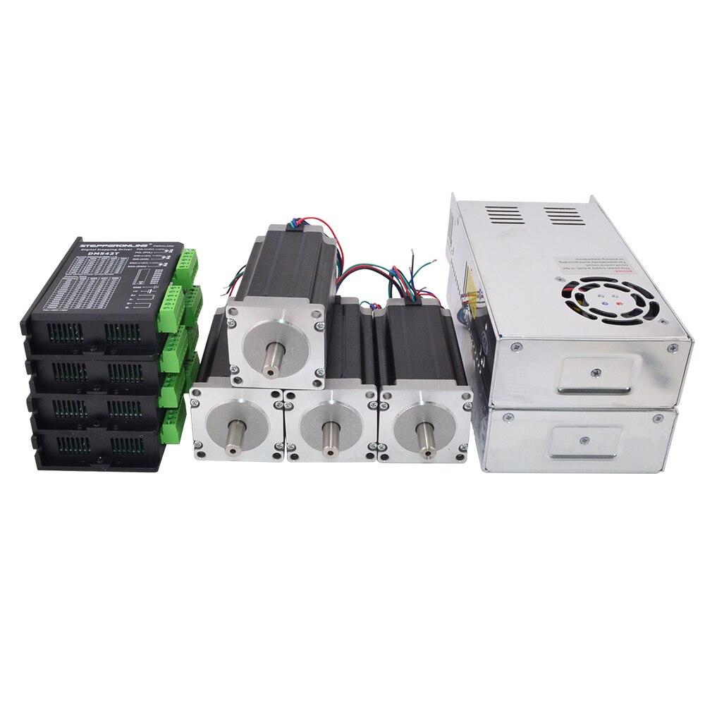 4 assi CNC Kit 3Nm/425oz. in Nema 23 Motore Passo-passo e Driver Mill Router di CNC Tornio