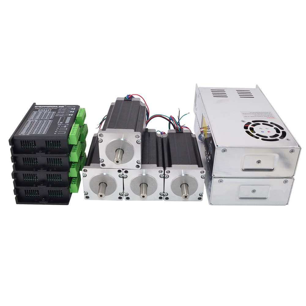 4 axe CNC Kit 3Nm/425oz. dans Nema 23 Stepper Motor & Driver CNC Mill Routeur Tour